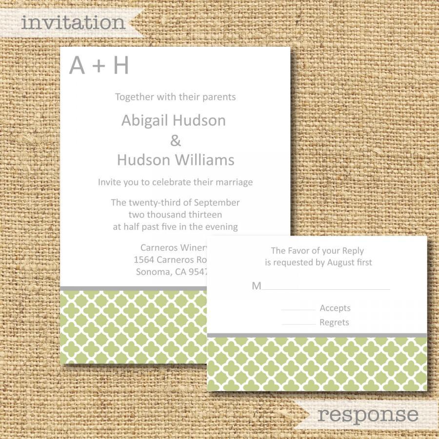 Mariage - Printable Abigail Invitation Set