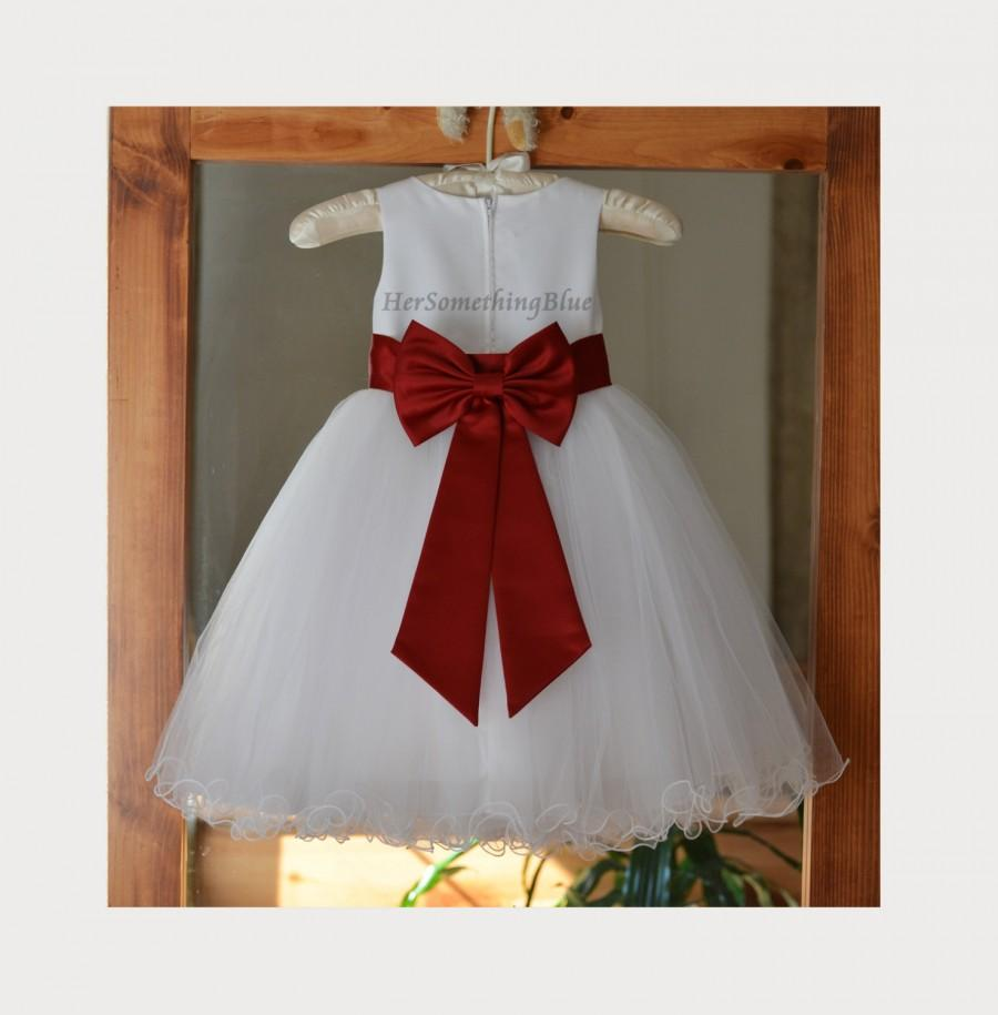 Свадьба - Wedding Pageant Flower Girl Dress Rattail Edge Baptism Bridesmaid Communion Holiday Special Occasion Toddler Recital S M 2 4 6 8 10 12 SBT25