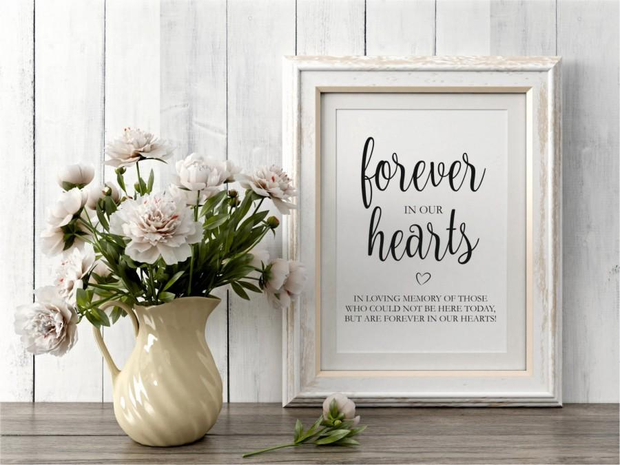 forever in our hearts sign, in loving memory sign, wedding signs, Powerpoint templates