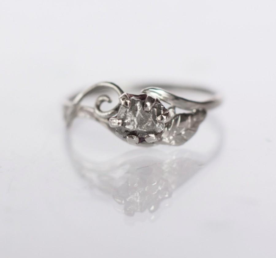3a033ed675c5b Meteorite Engagement Ring With 14K Palladium White Gold And Campo ...