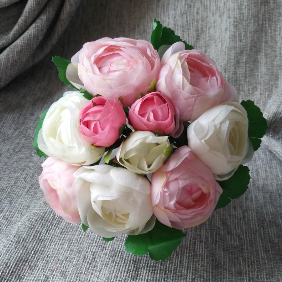 Cream white pink silk peony bouquet artificial camellia flower cream white pink silk peony bouquet artificial camellia flower bouquet for bridesmaids bouquets izmirmasajfo