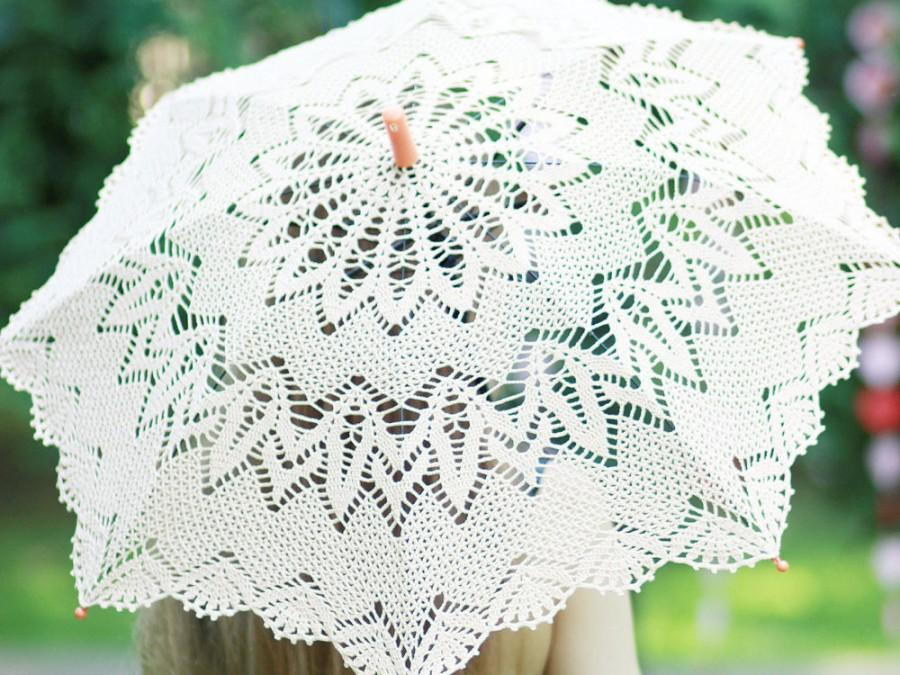 Sale Crochet Lace Photo Wedding Umbrella Elegant Lace Parasol