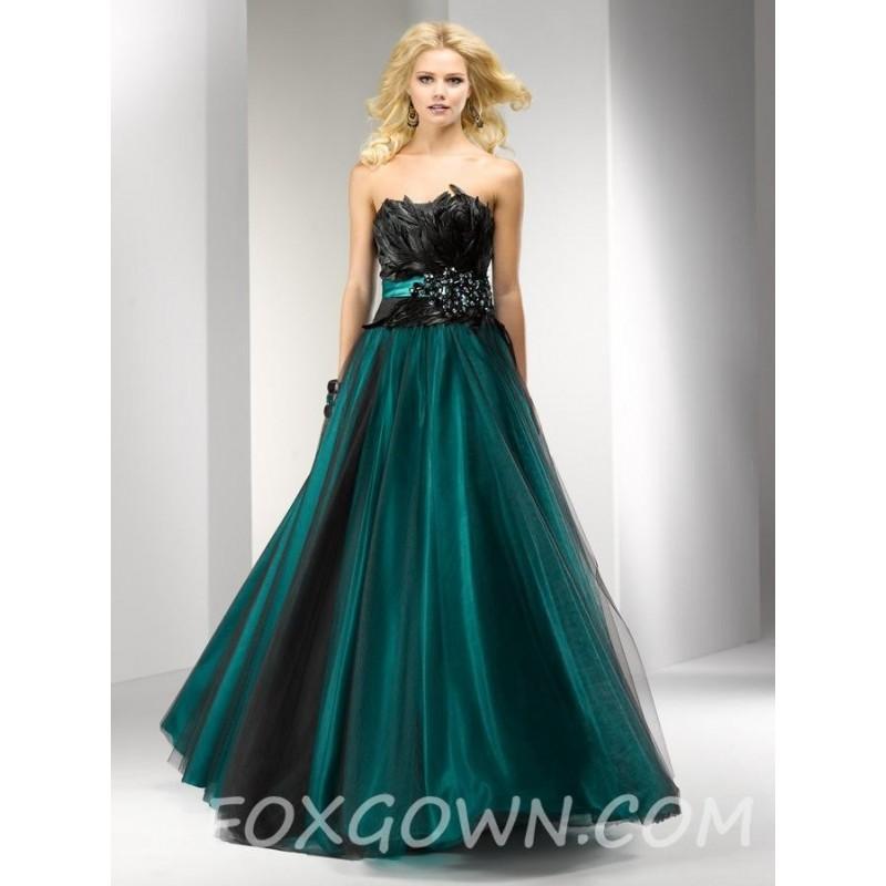 Hochzeit - Prom Kleid mit Wild gefiederter Mieder - Festliche Kleider