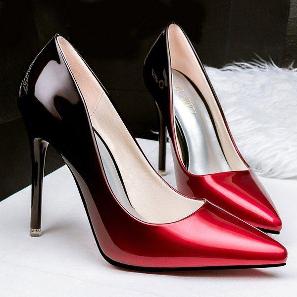 Mariage - Stiletto Heel Pointed Toe Gradient Color Pumps