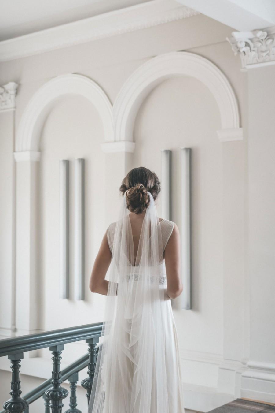 Свадьба - Draped veil - Wedding veil - Boho veil - Soft English tulle veil - Bridal veil