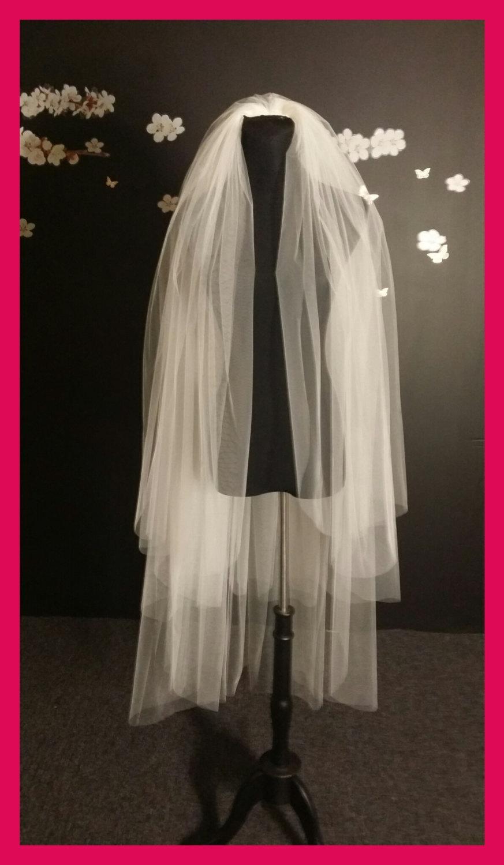 زفاف - 3 tiers veil,3 layers veil,waltz veil