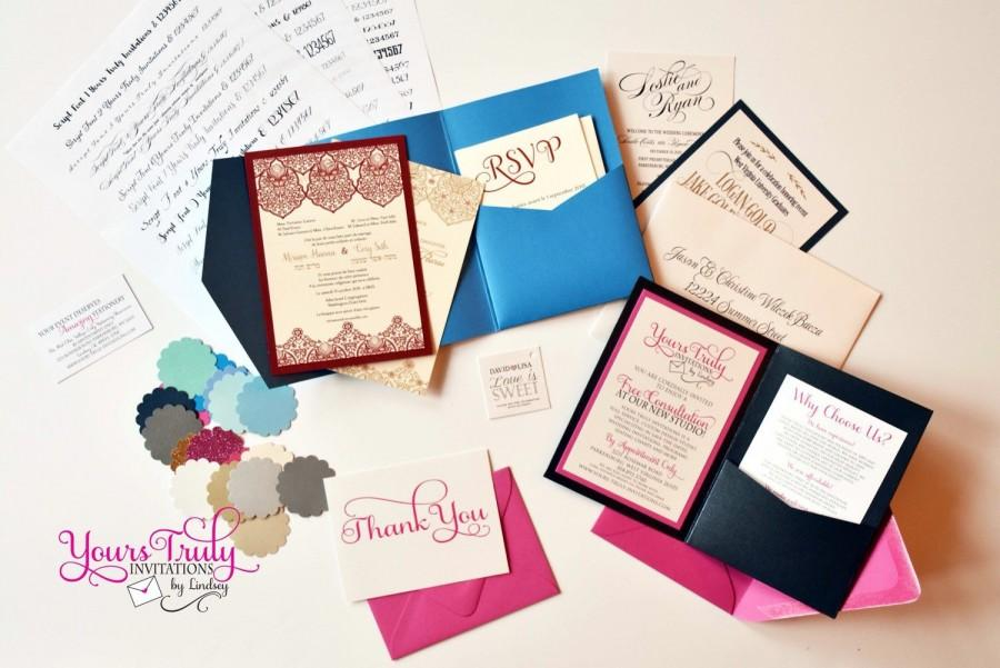 Wedding - Sample Invitation of your Choice, with credit for invitations and everything you need for your order!