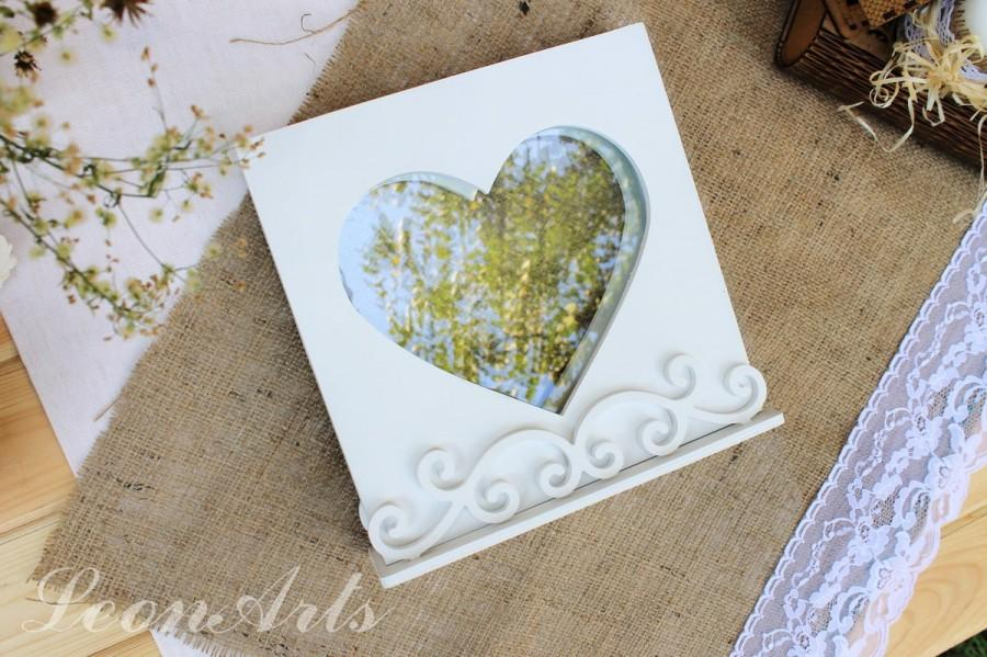 Wedding Sand Ceremony Set Heart FrameStand For Frame Unity Shadow Box Stand Rustic