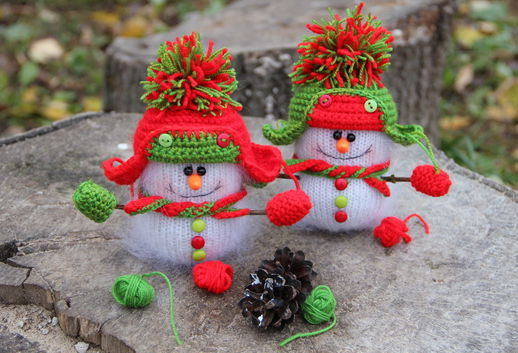 Amigurumi Snowman : Snowman stuffed toy plush snowman crochet plush toy snowman doll