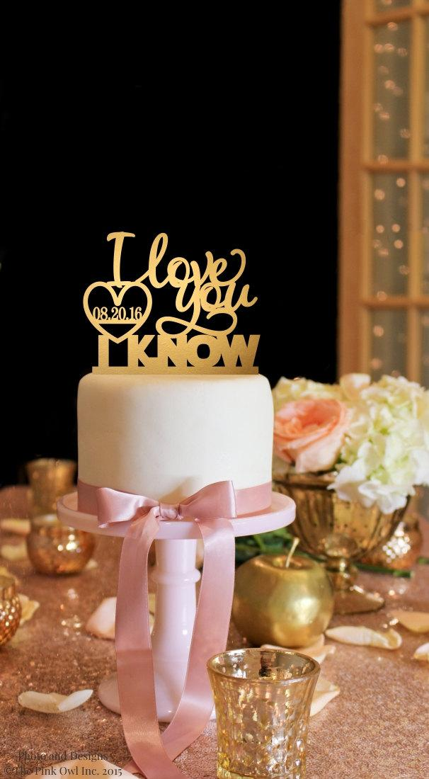 Star wars cake topper i love you i know wedding cake topper star wars cake topper i love you i know wedding cake topper gold cake topper junglespirit Choice Image