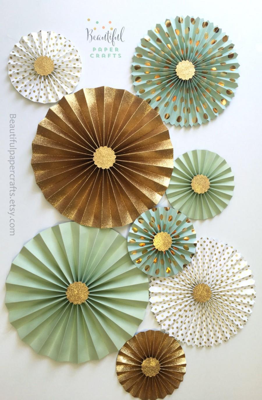 Mariage - Mint Green Loves Gold Glitter