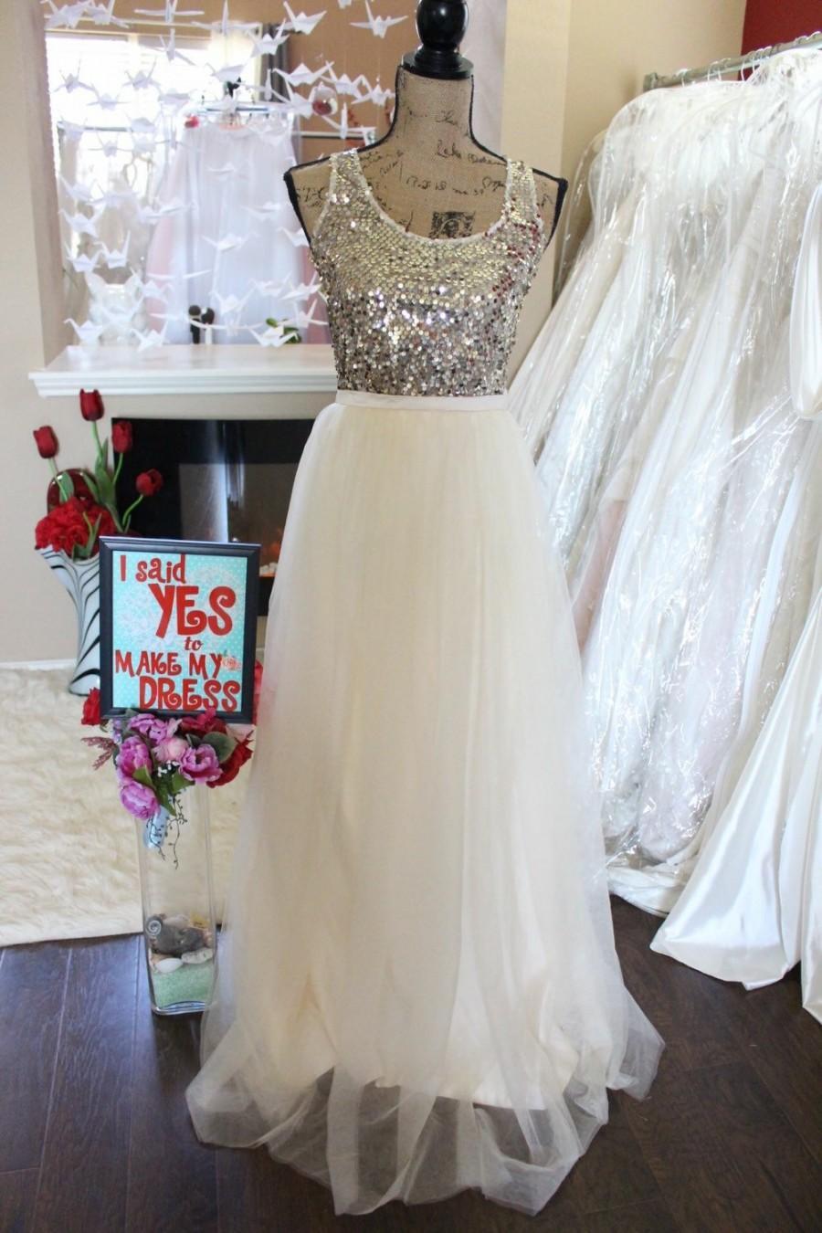 Mariage - Dark Ivory Long maxi tulle skirt / Ivory floor length skirt / Bride Tulle Skirt / Custom Made Wedding Bridal Skirt / Bridesmaids Skirt