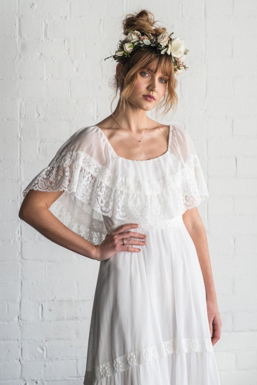 Mariage - TIRA - 1970's bohemian vintage wedding dress