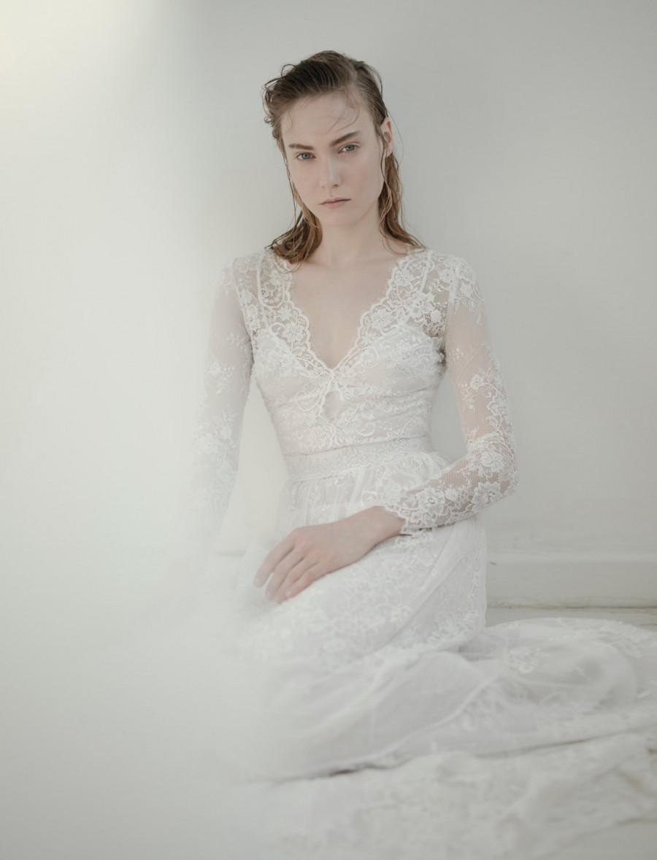 Mariage - Long sleeves wedding dress, Lace wedding dress, Romantic wedding dress, unique wedding dress, Kate Wedding Dress, fashion wedding dress