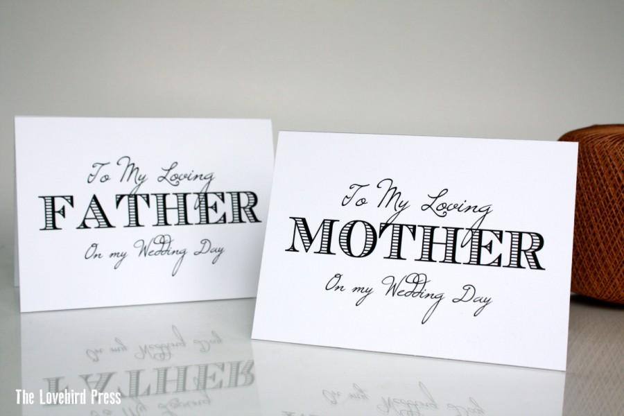 Thank You Card To Mother Father From Bride Groom Printable – Printable Wedding Thank You Cards
