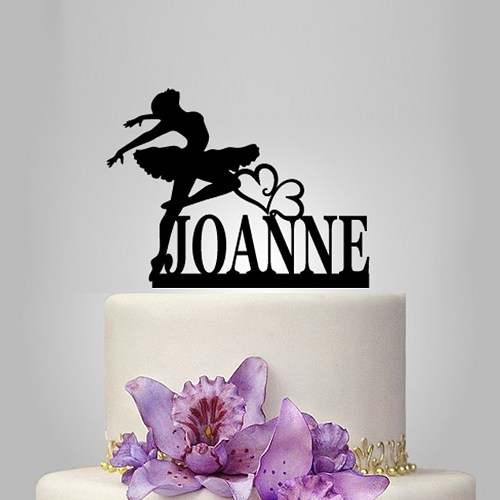 Personalised Cake Topper With Ballerina Dancer Birthday