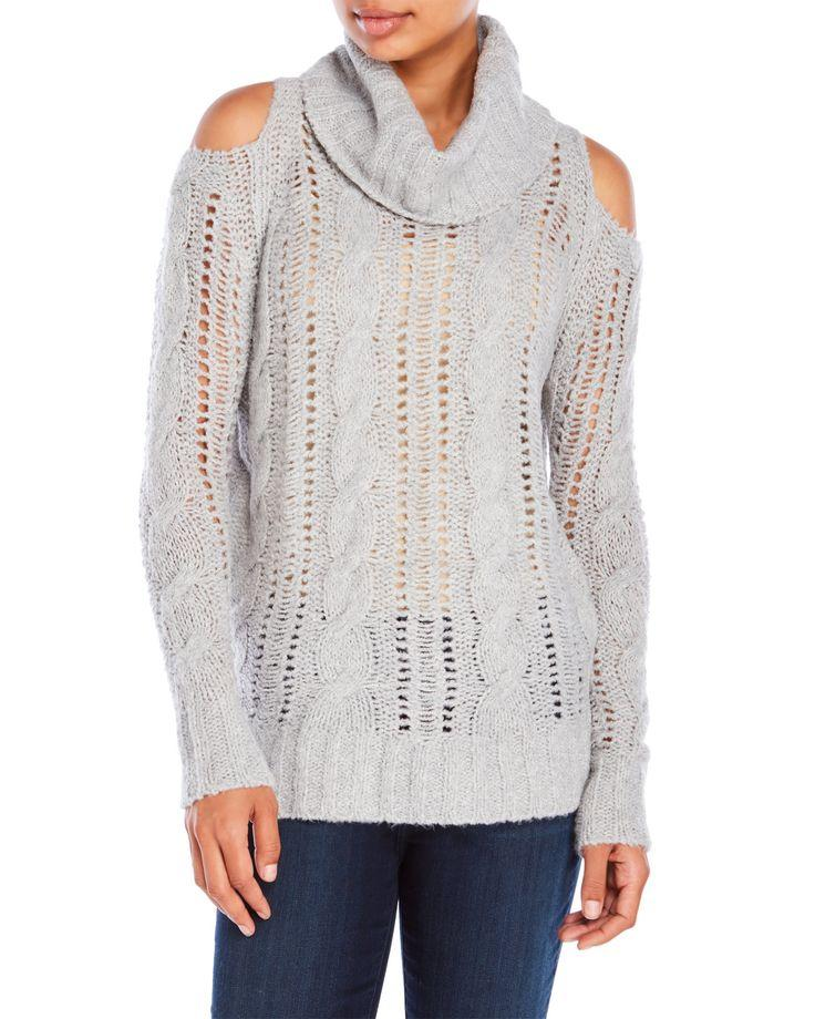 Boda - Cold Shoulder Cable Sweater