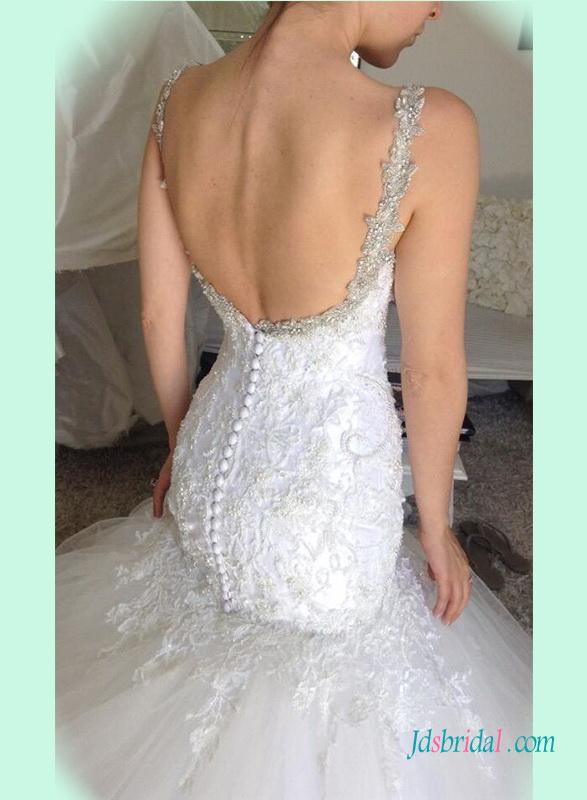زفاف - Sexy curvy beading lace mermaid wedding dress