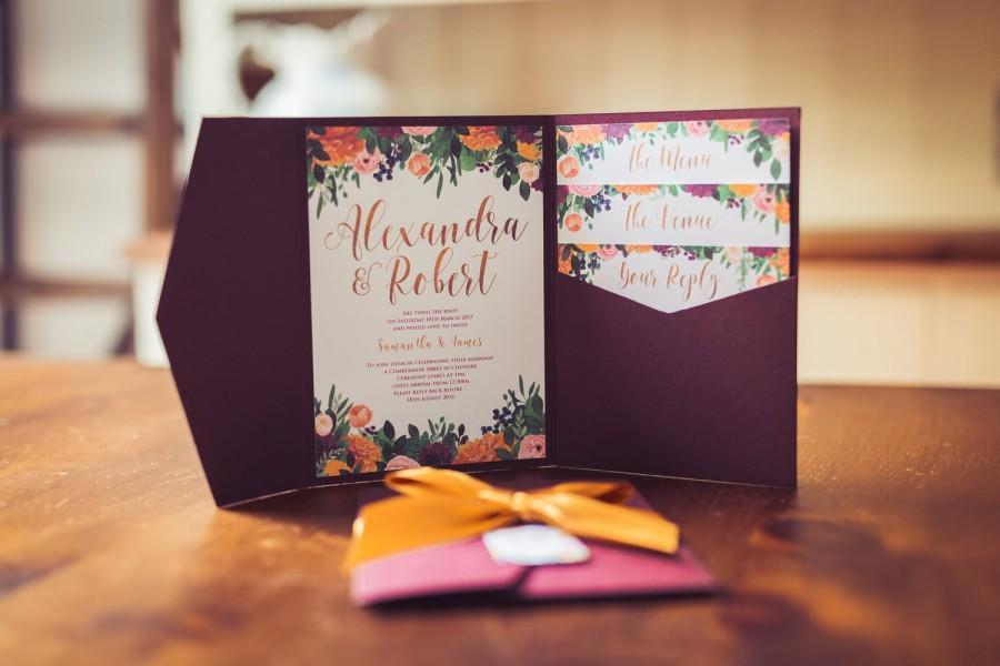 زفاف - Rustic Bloom Invitation Wallet