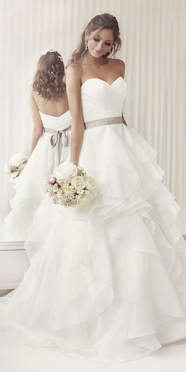 Mariage - 24 Strapless Sweetheart Neckline Wedding Dresses From TOP Designers