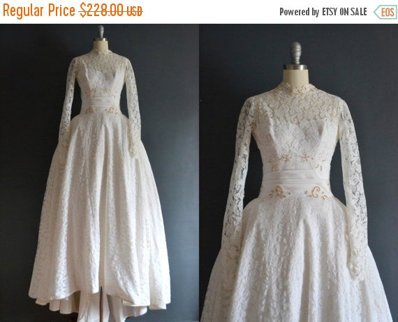 Wedding - SALE - Laetitia / 50s wedding dress / 1950s bridal gown