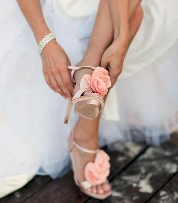 Wedding - Beautiful Blush Wedding Shoes. Photographer: Elise Donoghue