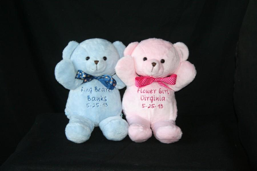 Mariage - PERSONALIZED Teddy Bear