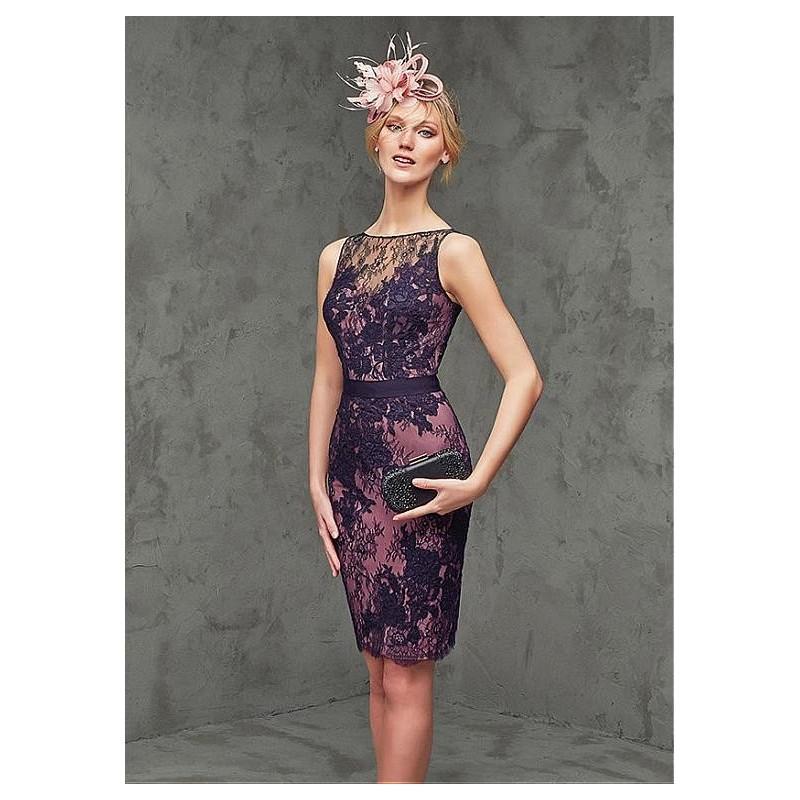 Boda - Elegant Lace Bateau Neckline Sheath Cocktail Dresses with Lace Appliques - overpinks.com