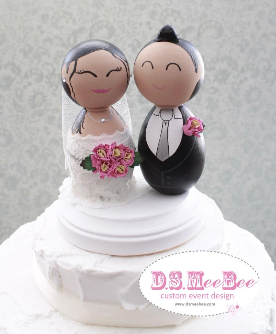 Wedding - Custom Wedding Cake Topper - Every topper is made custom for you