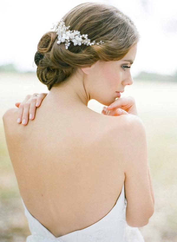 Mariage - JULIET pearl bridal hair comb