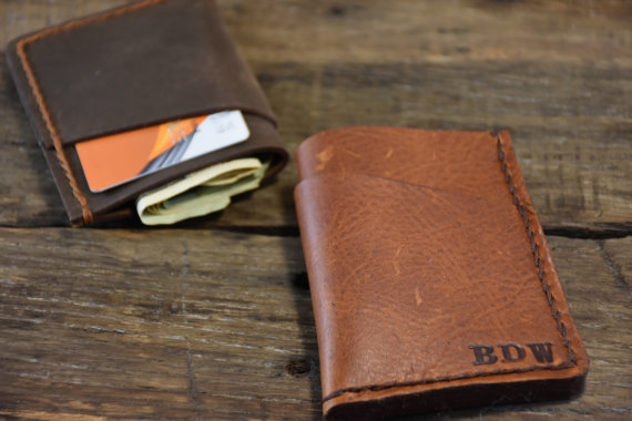 Свадьба - Personalized Wallet Mens Leather Wallet Handmade Slim Wallet Thin Wallet Front Pocket Wallet Anniversary Gifts