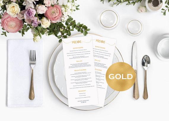 Menu Cards Wedding