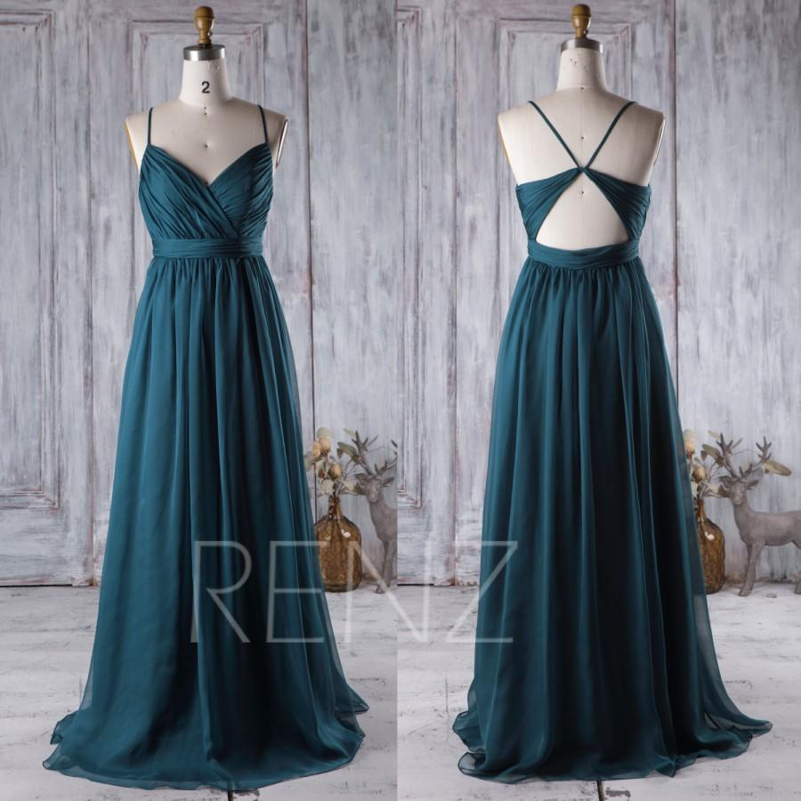 2016 dark turquoise bridesmaid dress open back wedding dress 2016 dark turquoise bridesmaid dress open back wedding dress spaghetti straps prom dress long chiffon evening gown floor length j026 ombrellifo Choice Image