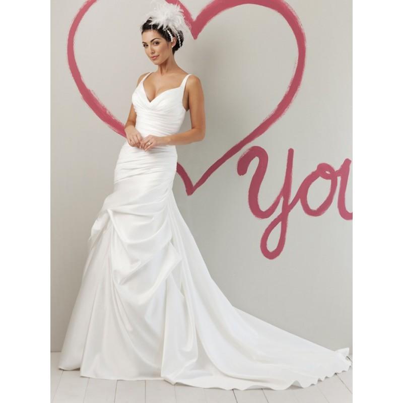 ... Sweetheart Feder Hochzeitskleid mit abholen Rock - Festliche Kleider