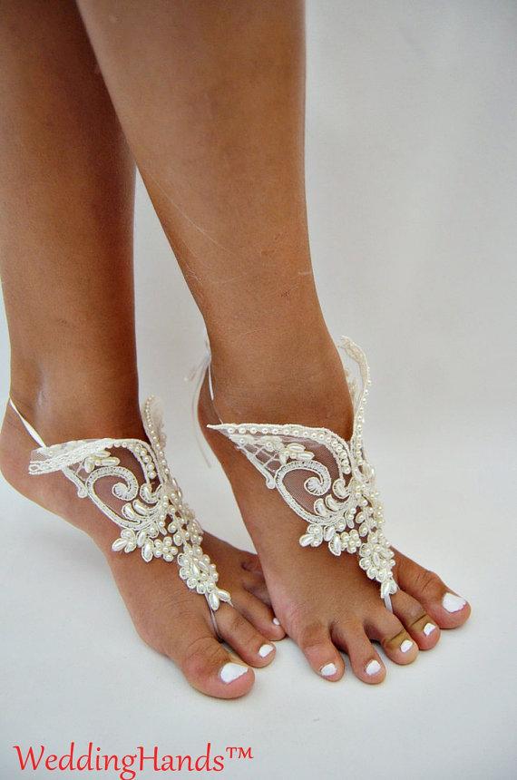 Düğün - Footless wedding shoes, Footless wedding barefoots, Footless wedding Foot Jewelry, Crochet wedding sandles, Lace beach anklet