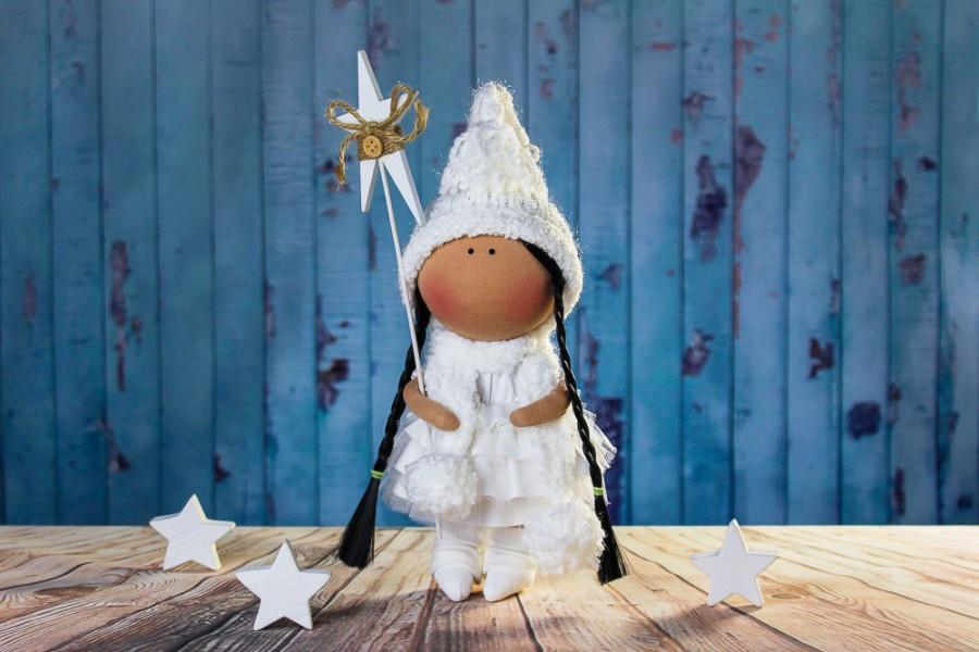 زفاف - Tilda doll. Doll Melanie. Soft toy. Сollection La Petite. Winter style. Сloth doll.  Rag doll. Interior doll. Textile doll. Christmas gift