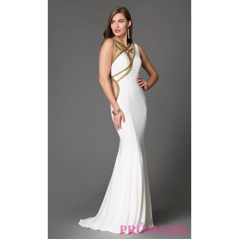 Hochzeit - Long Open Back Xtreme Prom Dress with Embellished Side and Neckline Cut Outs - Discount Evening Dresses