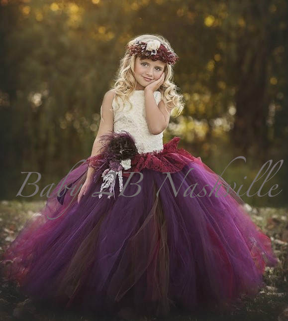 Hard....that first flower girl dresses burgundy
