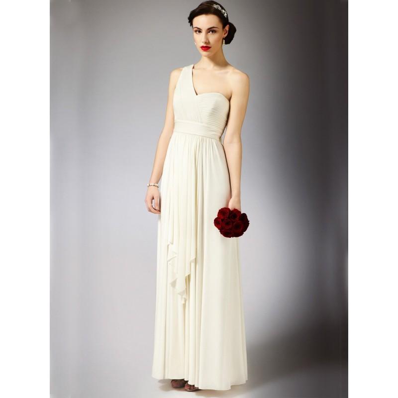 Fabelhafte Griechische Schulter Maxi Hochzeitskleid Mit Empire ...