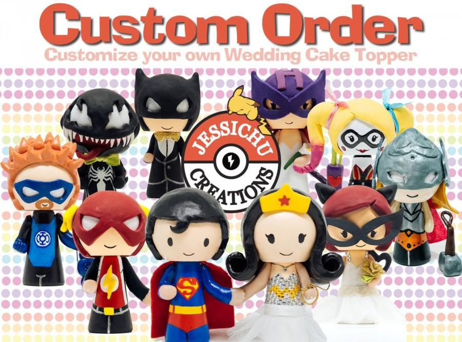 Captain America And Wonder Woman Cake Topper