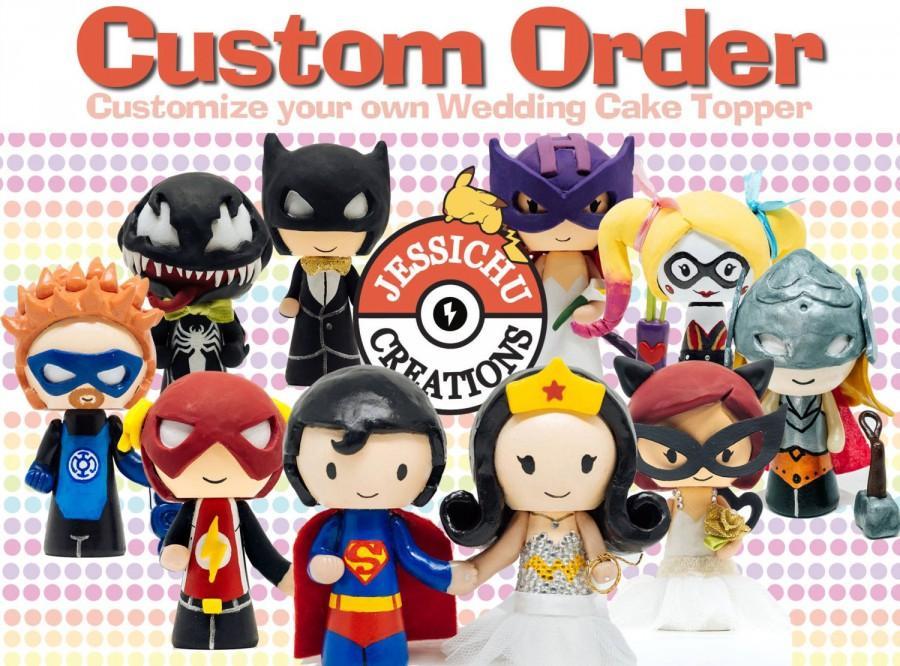 Wedding Cake Topper Custom Personalized Figurine - Marvel ...