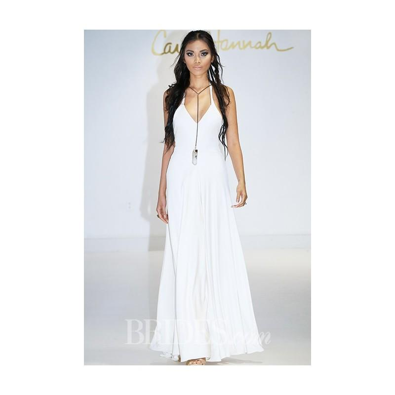 Mariage - Carol Hannah - Fall 2015 - Zultanite Halter Neck Jersey A-line Wedding Dress - Stunning Cheap Wedding Dresses