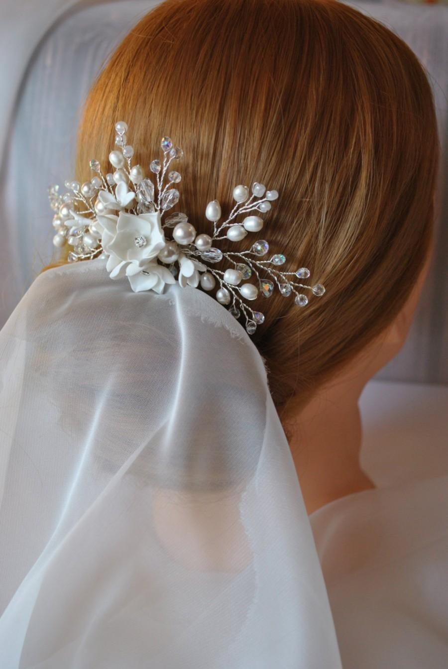 Wedding - Bridal Hair comb Wedding Hair Comb Bridal Headpiece Pearl Hair Comb Crystal Hair Comb Delicate Hair Comb Hair Accessories bridal hair Vine