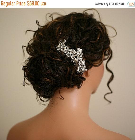 Mariage - SALE - Giorgia - Large Bridal Hair Comb - Crystal Hair Combs Wedding Hair Accessory  - Crystal Pearl Headpiece - Rhinestone Hair Piece