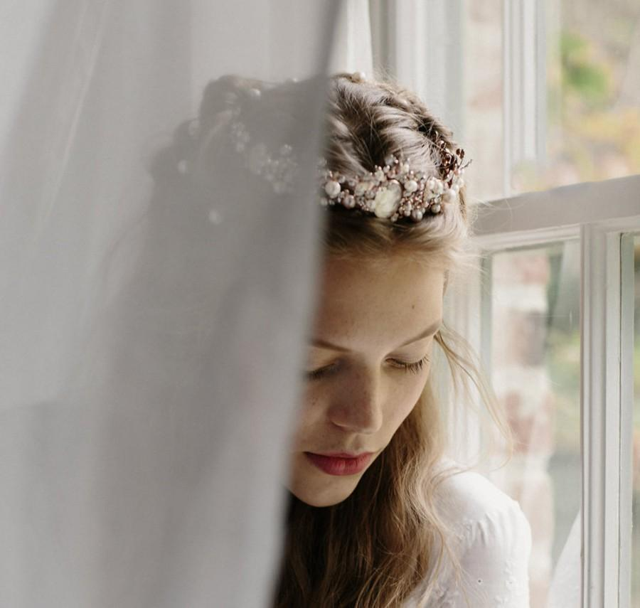 Mariage - Rose gold cameo wedding crown vridal tiara - Josephine no. 2093