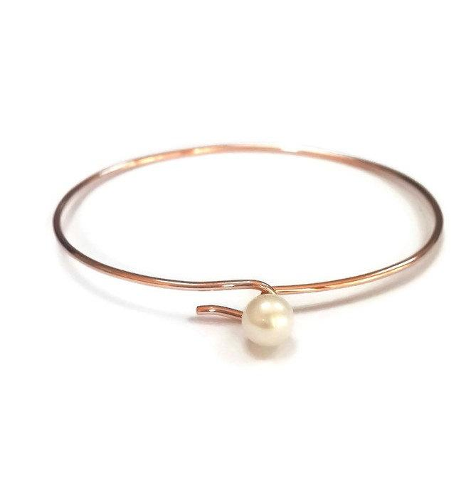 bangle jewelry bangles wrapped love products pearlwrappedbangle monogram adjustable i pearl bracelet