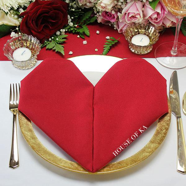 Mariage - Red Napkins 20 x 20 inches