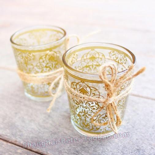 Свадьба - Beter Gifts® 浪漫主題小蠟燭 燭臺 七夕金色皇家婚禮佈置小清新餐桌佈景  BETER-LZ045
