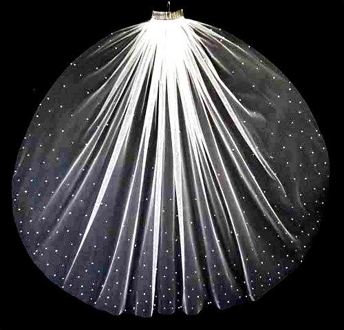 Mariage - SPECIAL crystal cathedral wedding veil, floor length bridal veil, long bridal veil, crystal wedding veil, cathedral veil scattered crystals