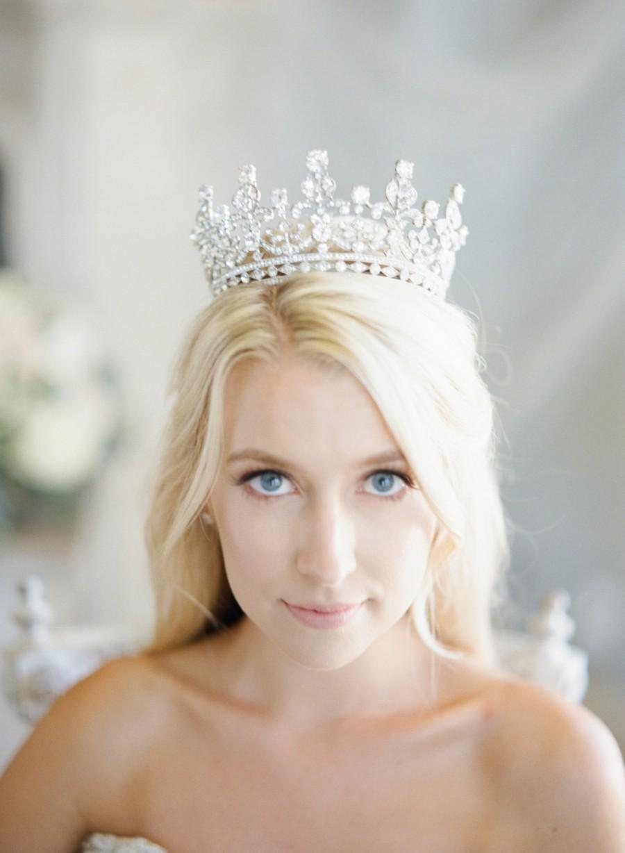 Mariage - Bridal Tiara - QUEEN ELIZABETH, Swarovski Bridal Tiara, Wedding Crown, Rhinestone Tiara, Large Tiara, Diamante Crown,Swarovski Crystal Tiara